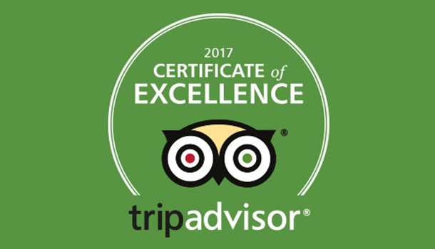 TripAdvisor Certificate of Excellence for Agroventures Adventure Park
