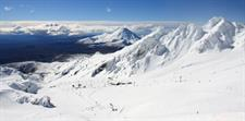 Taupo Skiing, Mt Ruapehu, Whakapapa Ski Field located in the Tongariro national park