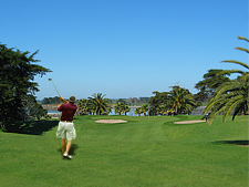 Play golf to your hearts content at Clarks Beach Holiday Park
