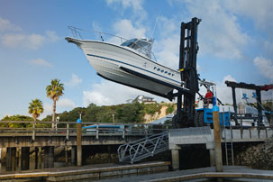 The Gulf Harbour Marina Boat Park provides affordable, secure and convenient boat storage