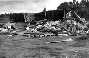 This new home in Eskdale was destroyed in the 1931 earthquake (Photo courtesy of Ruth Kay)