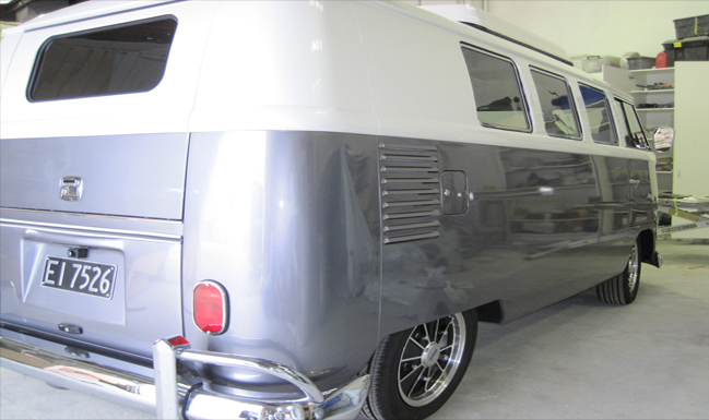 Automotive restoration, classic car, combi van