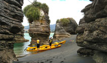 Kayaking around the Raglan Harbour