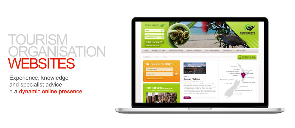 Tourism organisation websites