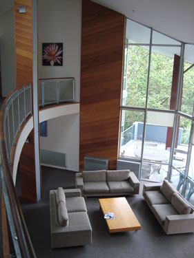 A living space at Ronald McDonald House Auckland
