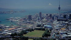 Auckland City with Victoria Park Markets in the Foreground