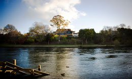 The Waikato Museum as viewed from the Waikato River