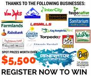 Register at www.wrt-thegenerator.com for a chance to be in to win some amazing spot prizes kindly donated by the following businesses.