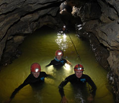 Waitomo adventure caving, abseiling, blackwater rafting and tubing