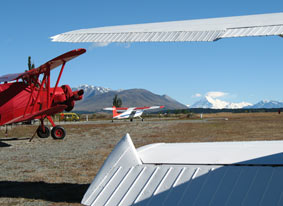 Planes ready to take off from Pukaki Airport